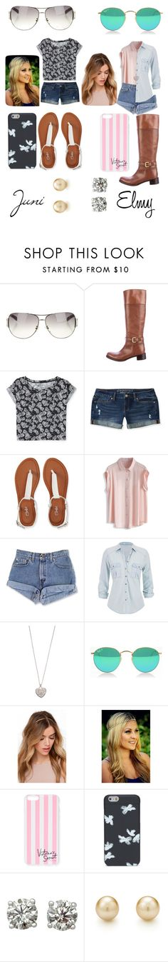 """""""Juni and Elmy"""" by normal-teen ❤ liked on Polyvore featuring Prada, Aéropostale, Chicwish, maurices, Accessorize, Victoria's Secret and Marc by Marc Jacobs"""