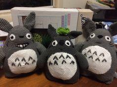 Totoro trio custom order from my own pattern - crochet amigurumi homemade