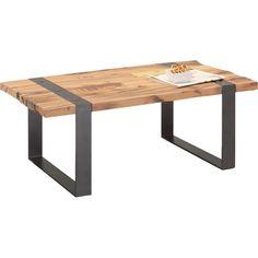 Couchtisch aus Altholz in Braun - Schwarz/Braun, LIFESTYLE, Holz/Metall (110/40/60cm) - ZANDIARA