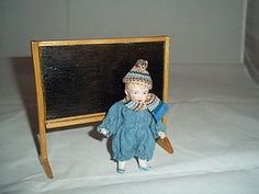 """German 3-1/2"""" All Bisque Dollhouse Little Brother-Early 20c. (item #1281453) #dollshopsunited"""