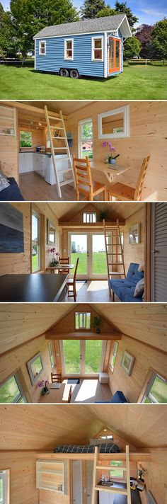 A 160 sq.ft. tiny house available in 20', 22', and 24' lengths, plus you have the option of wood or metal framing. Metal framing reduces the weight by 30%.