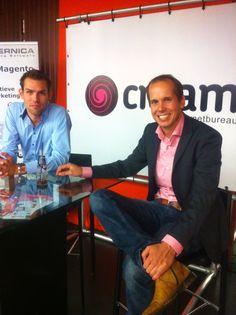 Edwin Bos en Marcel van Wijk zijn er om vragen te beantwoorden over de Copernica plug-in voor Magento webshops.