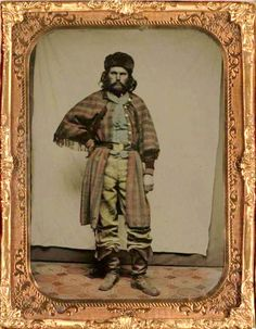 Daguerreotype showing a California fur trapper, ca. 1860; courtesy the Bancroft Library, U.C. Berkeley