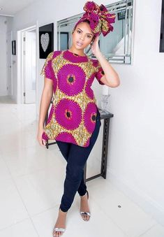 Super Stylish Ankara Tops for Gorgeous Ladies African Print Clothing, African Print Dresses, African Fashion Dresses, African Dress, African Clothes, Ankara Fashion, African Prints, African Fashion Designers, African Inspired Fashion
