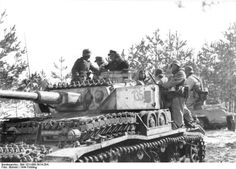 A Panzer 4 with lots of added track sections for extra protection