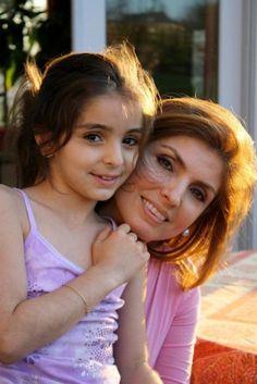 Yasmine, Crown Princess of Iran and her youngest daughter Princess Farah Pahlavi