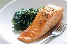 I hate salmon but my husband loves it. Going to try this soon. Maple Soy Garlic Salmon baked.