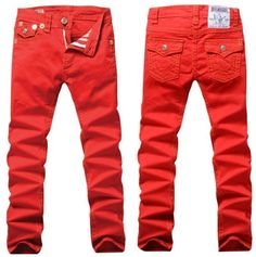 Red True Religion Jeans.