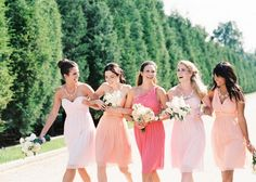 pastel color bridesmaid dresses