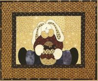 Straddling Bunny Applique Pattern by The Wooden Bear At KayeWood.com. Won't you help him hold his Easter eggs? http://www.kayewood.com/item/Straddling_Bunny_Pattern/1232 $8.00