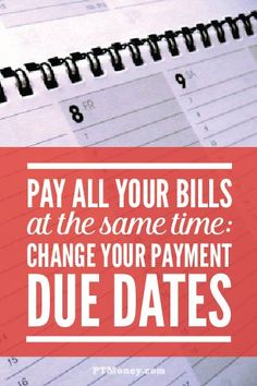 Are you looking for an easy way to simplify part of your monthly finances? PT tells you how to switch your payment due dates on all of your bills to the same day. It will also help you avoid all those late fees! saving money, ways to save money Ways To Save Money, Money Tips, Money Saving Tips, Saving Ideas, Money Plan, Money Hacks, Financial Peace, Financial Tips, Financial Planning