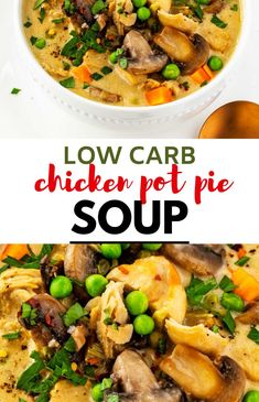 If you like Chicken Pot Pie, you will fall in love with this Low Carb Keto Chicken Pot Pie Soup. It is so ridiculously comforting - everything I want out of a meal in the confines of one easy to make bowl. If you haven't tried this yet, you are totally missing out.