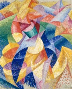 Gino Severini, Sea = Dancer, January 1914. Oil on canvas, with artist's painted frame, frame: 41 1/2 x 33 13/16 inches (105.3 x 85.9 cm); canvas: 39 3/8 x 31 11/16 inches (100 x 80.5 cm)
