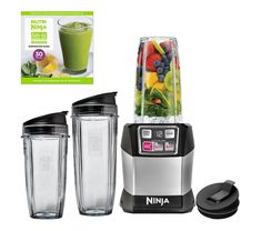 Model: Blending smoothies and shakes just got so much easier - and tastier - with this Auto iQ Pro Complete Personal Blender/Extractor from Nutri Ninja. You'll be able to customize any smoothie or shake exactly how you like it. Ninja Blender, Hand Blender, Mixer, Professional Blender, Electric Juicer, Blenders & Juicers, Belgian Waffle Maker, Smoothie Recipes