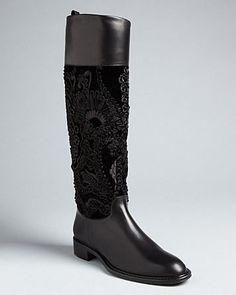 100 Authentic Ferragamo Flat Boots Tinka