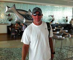 Legendary NFL quarterback Brett Favre visited Secrets Silversands Resort & Spa with his wife.