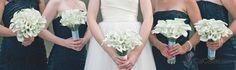 Elegent hand tied calla lily bridal bouquets with white Callafornia Callas®