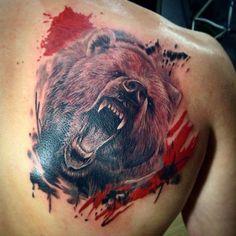 #drmntattoo #tattoo #trashpolka #bear #дрмнтату #тату #трэшполька #медведь