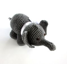 Elvy The Baby Elephant Crochet Elephant by SienasMaineDesign