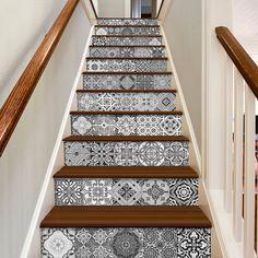 Escalier - Carreaux de ciment - Sticker