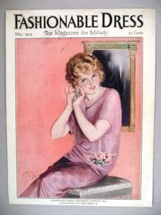 Fashionable Dress Magazine - May, 1924 - FRONT COVER ONLY ~~ Earl Christy art