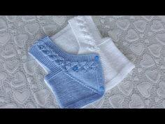 Slip Stitch Crochet, Tunisian Crochet, Easy Crochet, Crochet Baby, Baby Knitting Patterns, Baby Sweater Knitting Pattern, Crochet Feather, Irish Girls, Baby Vest
