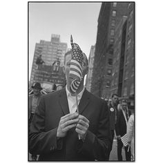 Pro-Vietnam War Demonstrator,Manhattan, New York, USA, 1968