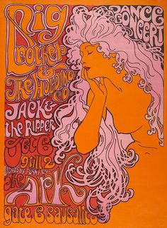 Big Brother and The Holding Co. concert poster, October 1967.
