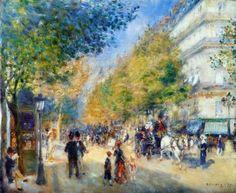 Renoir, Les Grands Boulevards, 1875