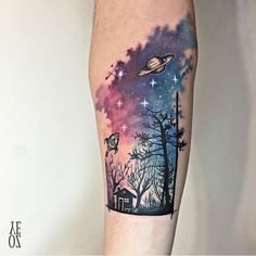 Starry Sky Tattoo by @yelizozcan_tattooer @ Equilattera Tattoos, Miami