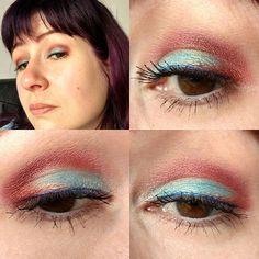 Passend zum Oberteil kam heute blau-rot auf die Augen ☺ #eyesoftheday #eotd #eyes #eyemakeup #amu #augenmakeup #faceoftheday #fotd #face #selfie #me #itsme #zoevacosmetics #zoeva #rodeobelle #starsmakeuphaven #makeupgeek