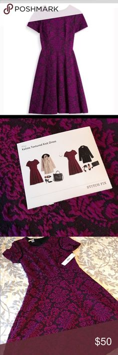 Stitch Fix Kalista Textured Knit Dress by Wisp Size 6 from Stitch Fix! Brand new with tags attached. The material has some stretch so it could also comfortably fit a size 8. Knee-length. Cranberry colored. Wisp Dresses Midi