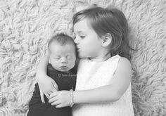 sibling newborn shot