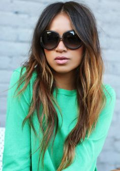 Long Hair with Short Layers but BAD ombre highlights-what to show my hair dresser NOT to do.