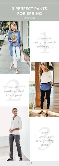 So many styles, so many options. Shop pants perfected at J.Jill.
