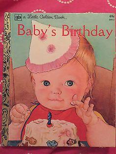 Little Golden Book Baby's Birthday Eloise Wilkin 1972  Very Good condition
