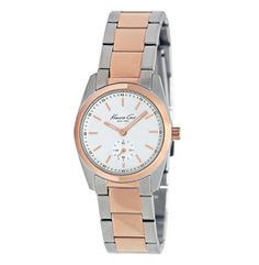 2eb28120159 Rose Gold And Silver Watch with Link Strap Kenneth Cole New York Relógio De  Ouro E