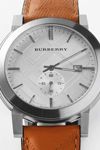 Father's Day gift idea: Burberry men's watch. This is a timeless present that is sure to make dad's day. Classic brown leather band and stainless silver roman numeral face. He'll love the statement this watch will make.
