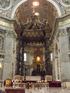 Bernini Baldacchino and Cathedra Petri, St Peter's Basilica, Rome