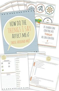 """awesome printable package to teach """"how do the things I say affect me and those around me?""""  #Come Follow Me"""