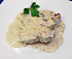 Chuletas de cerdo con salsa de champiñones a la crema - Mis Cosillas de Cocina