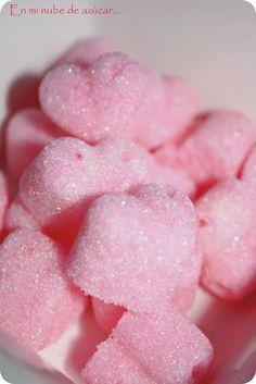 Idea para San Valentin III. Terrones de azúcar romanticones.... ~ En mi nube de azucar....