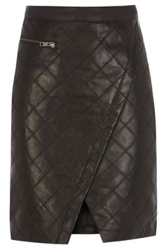 Lia Quilted Leather Mini made from soft nappa leather with a flattering wrap effect Quilted Leather, Leather Skirt, Embellished Top, Chic Dress, Fashion Ideas, Most Beautiful, My Style, Mini, Skirts