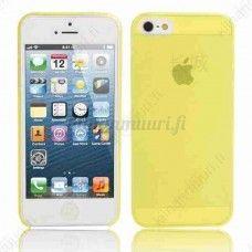 Läpikuultava iPhone 5/5S suojakuori, keltainen