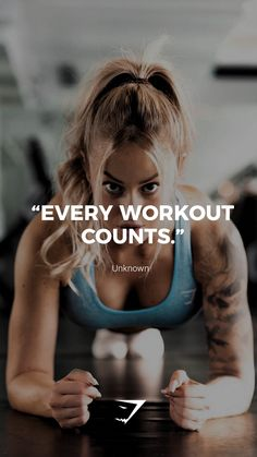 every workout counts quot; gymshark gymshark quotes motivational inspiration motivate phrases inspire fitness fitnessquotes motivationalquotes when she lifts and cooks her own meals Fitness Humor, Fitness Motivation Quotes, Health Fitness, Fitness Logo, Fitness Studio Motivation, Gewichtsverlust Motivation, Exercise Motivation, Fitness Transformation, Fitness Inspiration