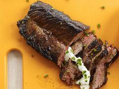 Steak with Horseradish-Chive Sauce