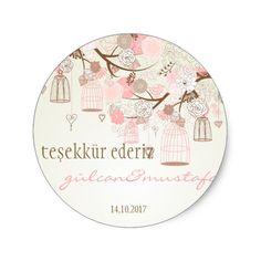 Shop Pink Vintage Birdcages Floral Baby Shower Sticker created by misstallulah. Baby Shower Labels, Baby Shower Party Supplies, Baby Shower Invitations, Baby Shower Gifts, Baby Gifts, Vintage Flower Prints, Vintage Flowers, Pink Vintage, Thank You Stickers