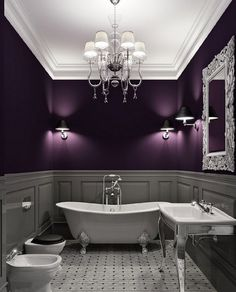 home interior Get a 780 Credit Score in 4 weeks,learn how Here decorating before and after home design room design design house design Style At Home, Dark Purple Walls, Purple Gray, Plum Walls, Grey Walls, Pink, Purple Colors, Dark Walls, Color Walls
