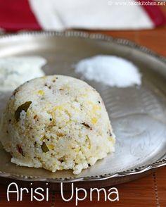 South Indian breakfast arisi upma recipe