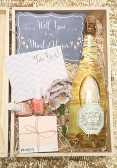 Include some of your color palette in your bridesmaids boxes to give them a sneak peak!